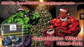 Ideen für Weihnachtsgeschenke | Superhelden Mützen Häkel Sets