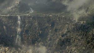 Der Krater nach der Zerstörung von Novi Grad.