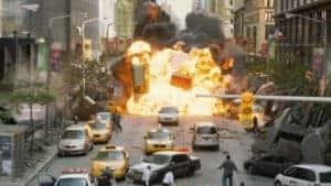 Die Invasion der Chitauri in New York.